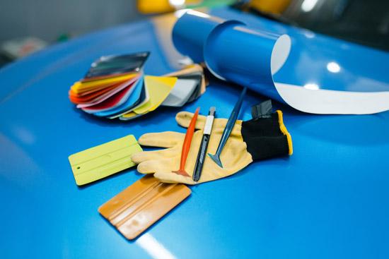 Palette pellicole per wrapping auto